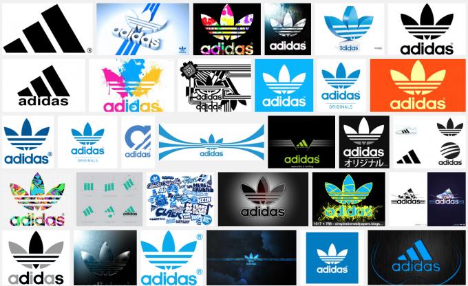 Screenshot Adidas Logos (Google Bildersuche)