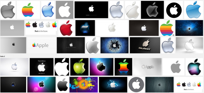 Screenshot Apple Logos (Google Bildersuche)