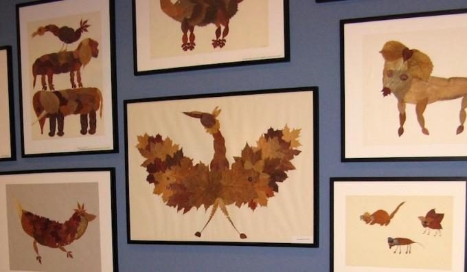 Herzstück des Labors der Phantasie ist Diethild Buchheims Blätterwelt mit ihren bizarr-komischen Tierbildern.