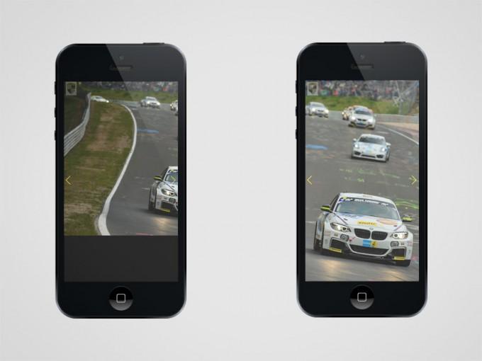 Vorher: Das Bild wird nicht zentriert und wird mit schwarzem Balken angezeigt. Nachher: Das Bild wird auf den Mittelpunkt zentriert und ohne störenden Balken angezeigt.