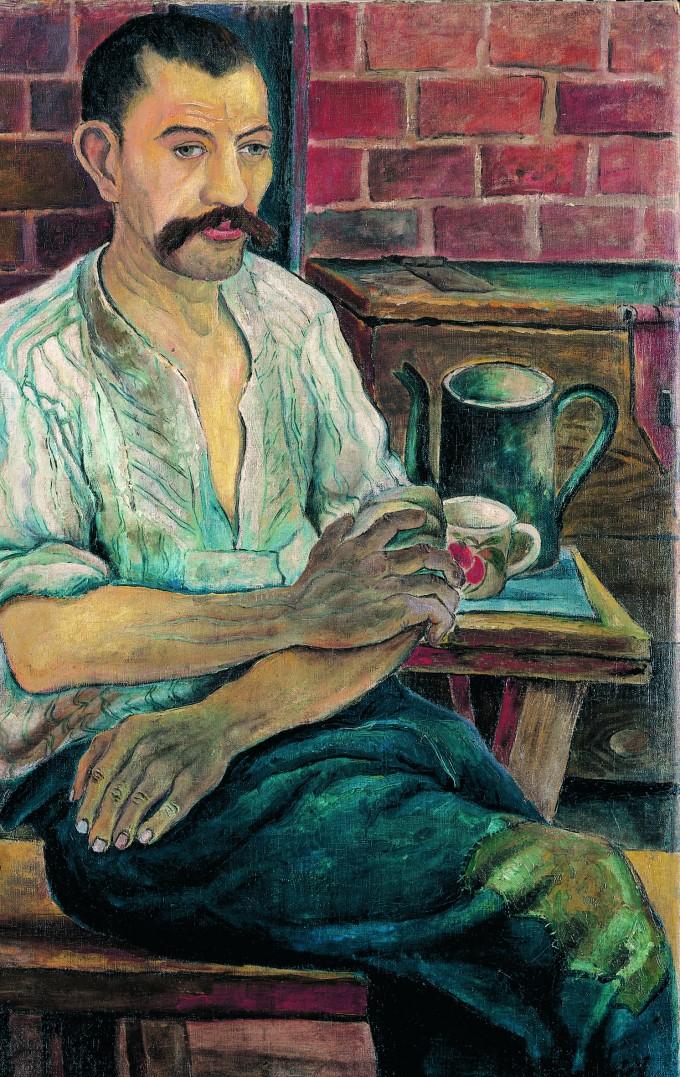 Immanuel Knayer: Arbeiter bei der Frühstückspause (1925)