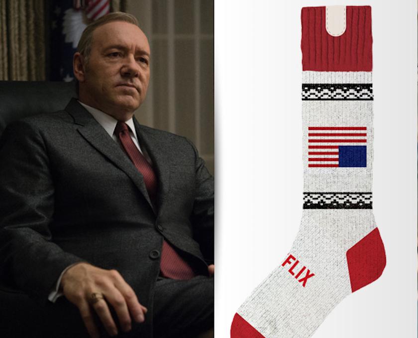Aktuell auf Platz 3 der Netflix-Sockenanleitungs-Download-Charts: House of Cards. (https://makeit.netflix.com)