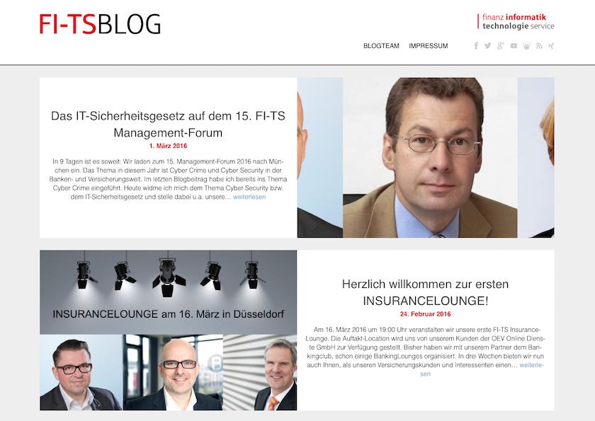 Eine Erfolgsgeschichte – der FI-TS Unternehmensblog. Seit 2009 online, Anfang 2016 erneut einem Refresh unterzogen.