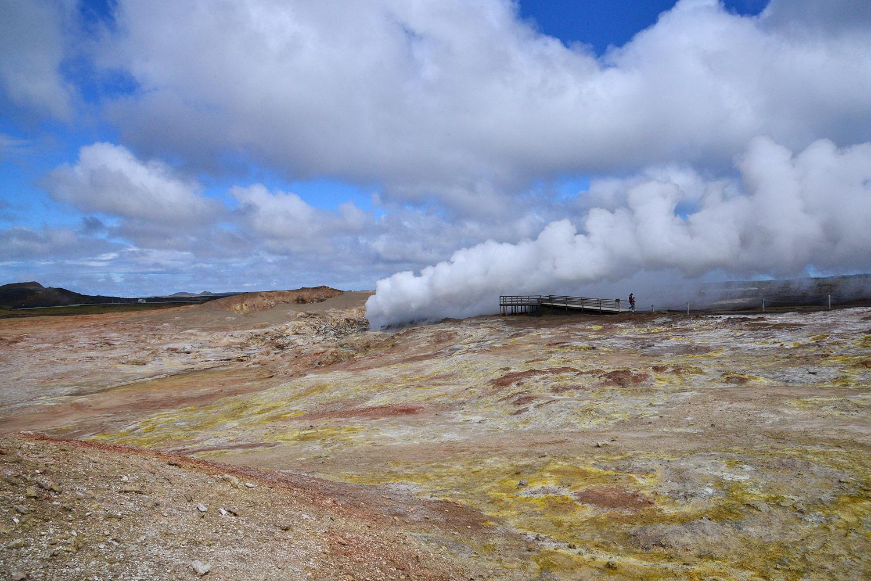 Gunnuhver, das zentrale Hochtemperaturgebiet des Vulkansystems Reykjanes