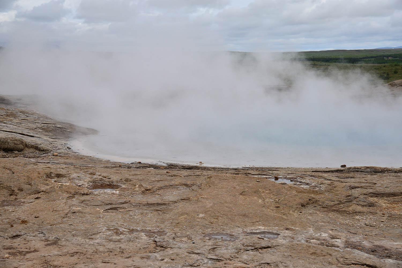 Der Große Geysir – der älteste bekannte, aber nur noch gelegentlich aktive Geysir