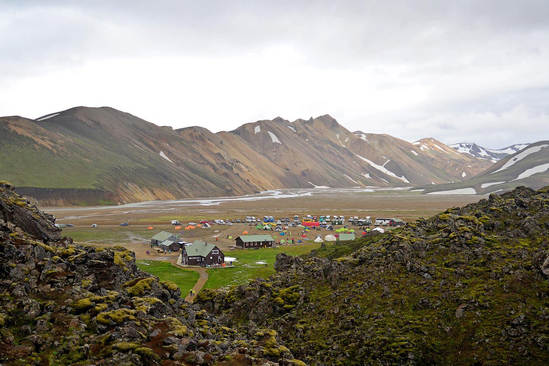 Basecampathmosphäre in Landmannalaugar