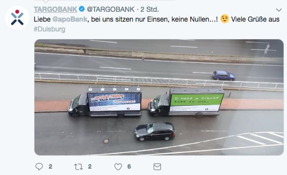 Twitter-Nutzer kommentieren den Einsatz unserer IT-Recruiting-Plakate auf Coolite Trucks.